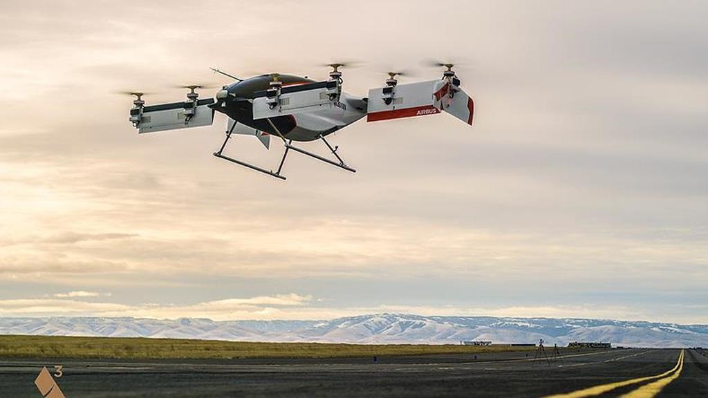 Airbus, Uçan Taksi Vahana'nın İlk Videosunu yayımladı!