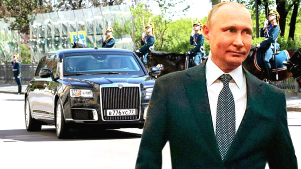 Putinin raketə belə dözə bilən, 197 milyon dollarlıq limuzini!